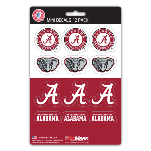 Alabama Crimson Tide Decal Set Mini 12 Pack