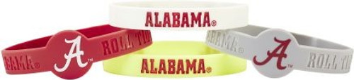 Alabama Crimson Tide Bracelets 4 Pack Silicone