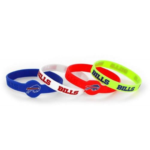 Buffalo Bills Bracelets 4 Pack Silicone