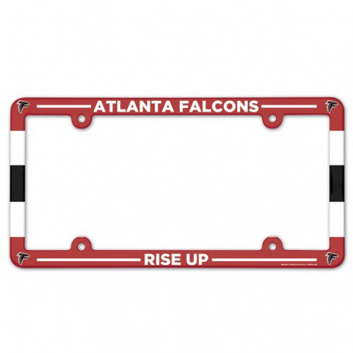 Atlanta Falcons License Plate Frame Plastic Full Color Style