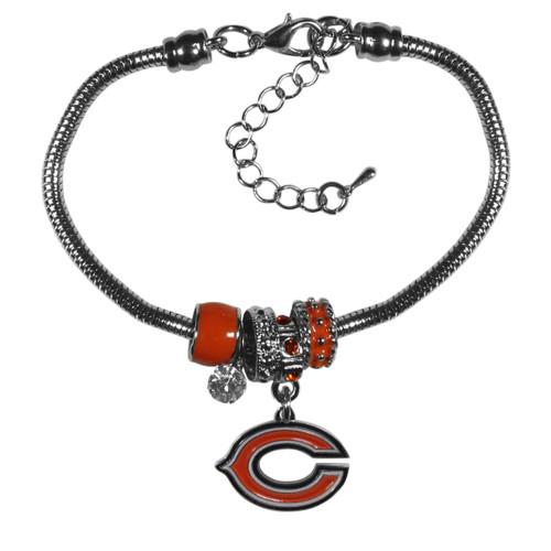 Chicago Bears Bracelet Euro Bead Style