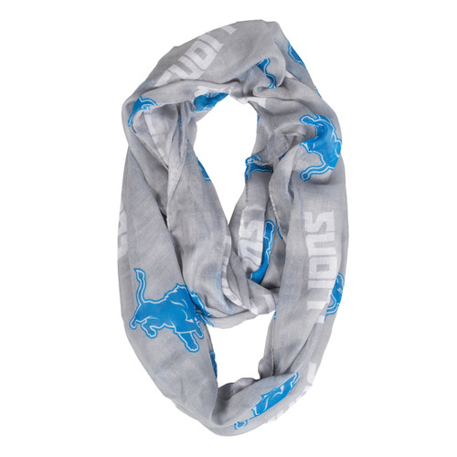 Detroit Lions Scarf Infinity Style Alternate