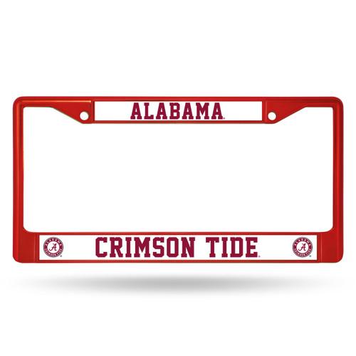 Alabama Crimson Tide License Plate Frame Metal Maroon