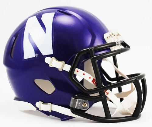 Northwestern Wildcats Helmet Riddell Replica Mini Speed Style