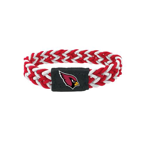 Arizona Cardinals Bracelet Braided Red and White