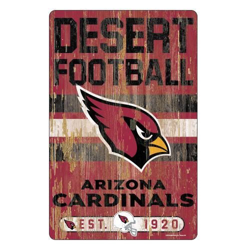 Arizona Cardinals Sign 11x17 Wood Slogan Design
