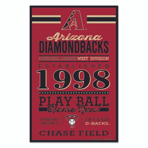 Arizona Diamondbacks Sign 11x17 Wood Established Design