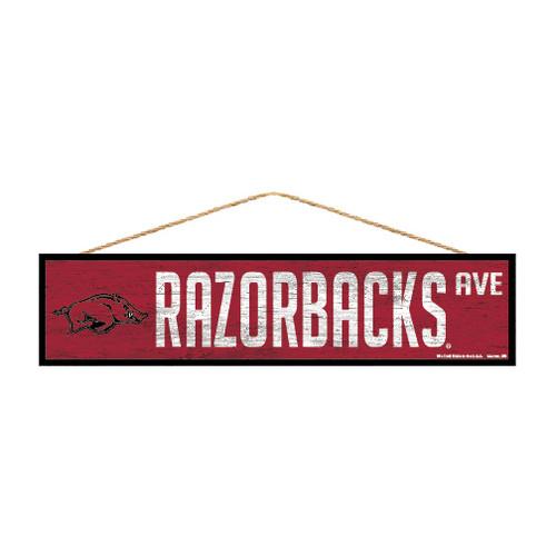 Arkansas Razorbacks Sign 4x17 Wood Avenue Design