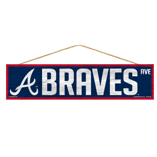 Atlanta Braves Sign 4x17 Wood Avenue Design