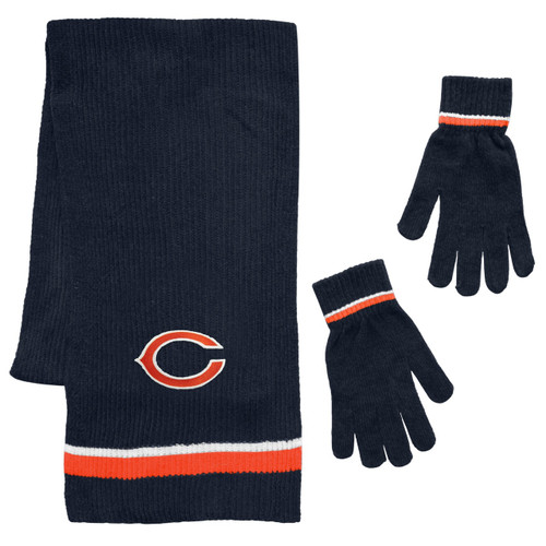 Chicago Bears Scarf and Glove Gift Set Chenille