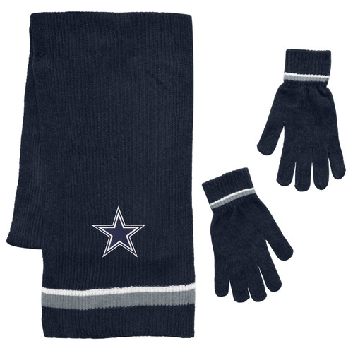 Dallas Cowboys Scarf and Glove Gift Set Chenille