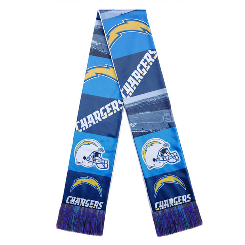 Los Angeles Chargers Scarf Printed Bar Design