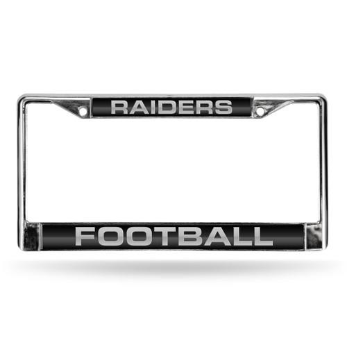 Oakland Raiders License Plate Frame Laser Cut Chrome Alternate