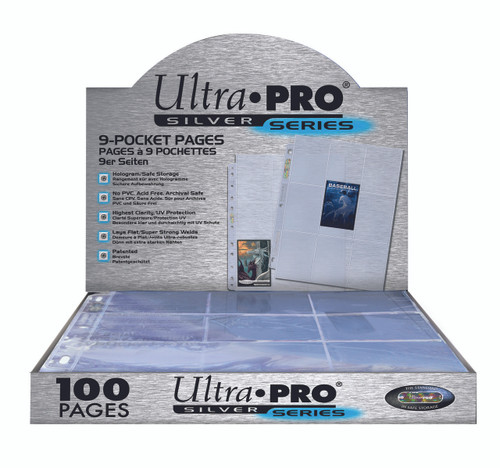Ultra Pro 9-Pocket Silver Series Pages (100ct)