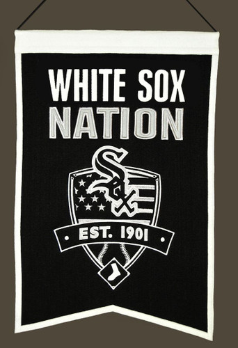 Chicago White Sox Banner 14x22 Wool Nations