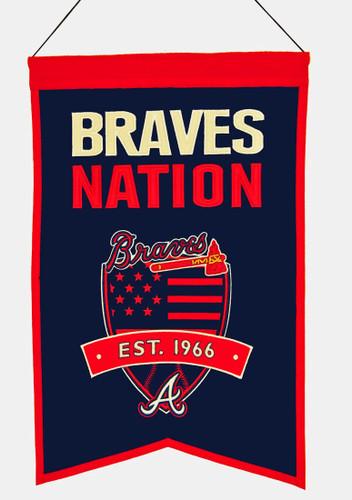 Atlanta Braves Banner 14x22 Wool Nations