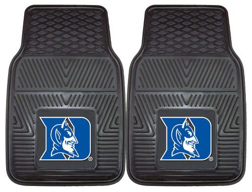 Duke Blue Devils Heavy Duty 2-Piece Vinyl Car Mats