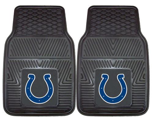 Indianapolis Colts Car Mats Heavy Duty 2 Piece Vinyl