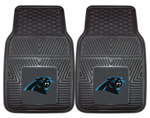 Carolina Panthers Car Mats Heavy Duty 2 Piece Vinyl