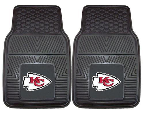 Kansas City Chiefs Car Mats Heavy Duty 2 Piece Vinyl