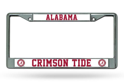 Alabama Crimson Tide License Plate Frame Chrome