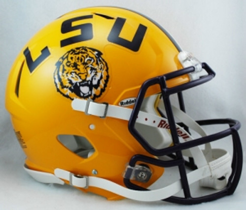 LSU Tigers Helmet Riddell Authentic Full Size Speed Style