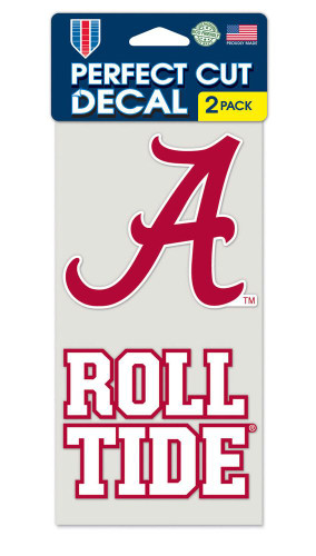 Alabama Crimson Tide Set of 2 Die Cut Decals