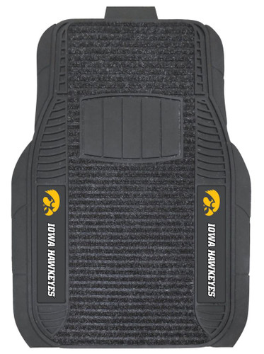 Iowa Hawkeyes Car Mats - Deluxe Set