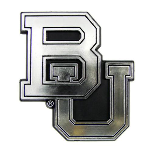 Baylor Bears Auto Emblem - Silver