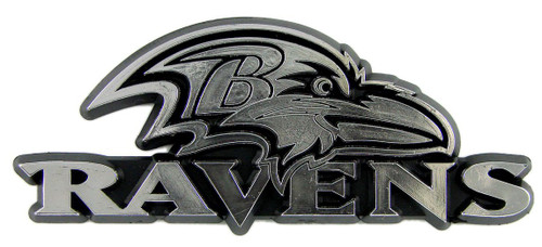 Baltimore Ravens Auto Emblem - Silver