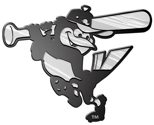Baltimore Orioles Auto Emblem - Silver
