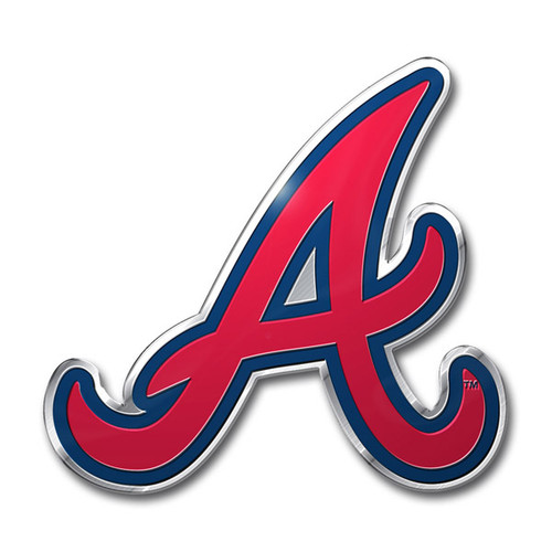 Atlanta Braves Auto Emblem - Color