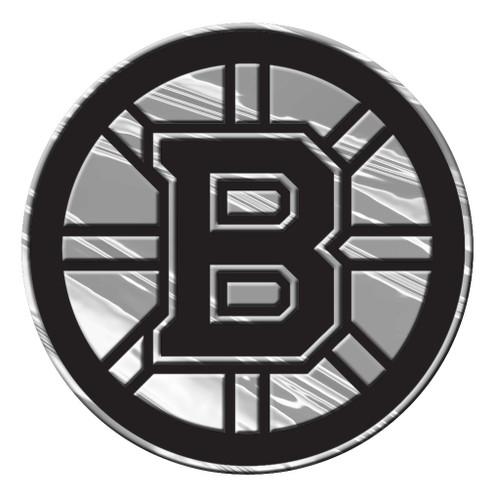 Boston Bruins Auto Emblem - Silver