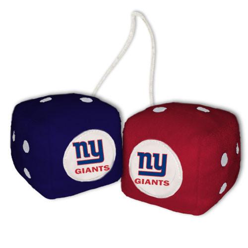 New York Giants Fuzzy Dice