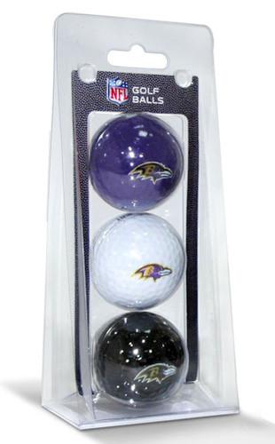 Baltimore Ravens 3 Pack of Golf Balls