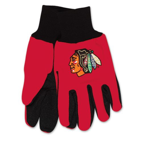 Chicago Blackhawks Two Tone Gloves - Adult