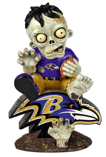 Baltimore Ravens Zombie On Logo Figurine