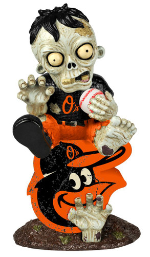 Baltimore Orioles Zombie Figurine - On Logo
