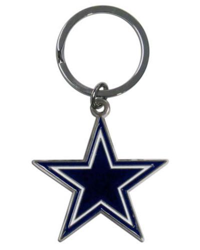 Dallas Cowboys Chrome Logo Cut Keychain