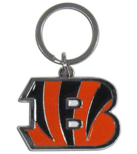 Cincinnati Bengals Chrome Logo Cut Keychain