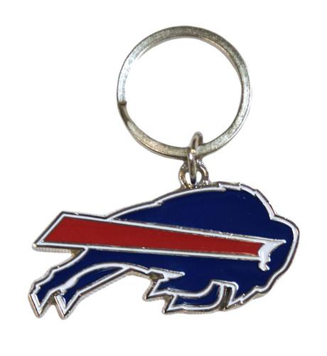 Buffalo Bills Chrome Logo Cut Keychain