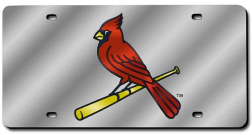 St. Louis Cardinals License Plate Laser Cut Silver