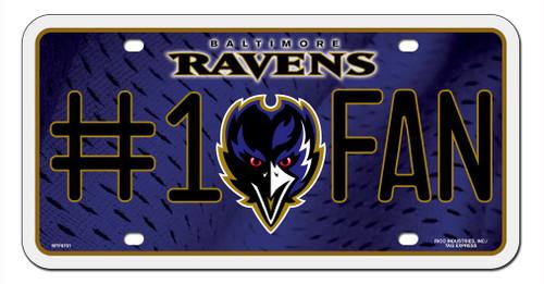 Baltimore Ravens License Plate #1 Fan