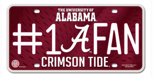 Alabama Crimson Tide License Plate #1 Fan