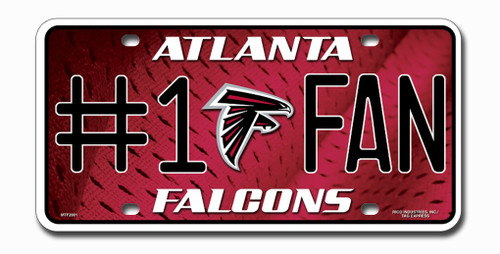 Atlanta Falcons License Plate #1 Fan