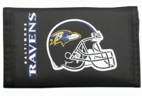 Baltimore Ravens Wallet Nylon Trifold