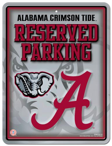 Alabama Crimson Tide Sign Metal Parking