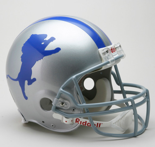 Detroit Lions Helmet Riddell Authentic Full Size VSR4 Style 1960-1969 Throwback