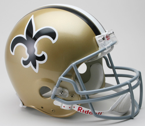 New Orleans Saints Helmet Riddell Authentic Full Size VSR4 Style 1967-1975 Throwback