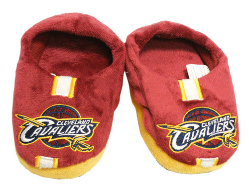 Cleveland Cavaliers Slippers - Youth 4-7 Stripe